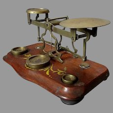 Antique  19th Century  POSTAL SCALE with Weights