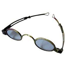 Antique 19th Century Brass Eyeglass Spectacles