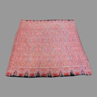 "Antique 19th Century French Paisley Shawl 64"" X 64"""