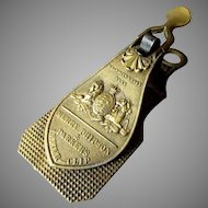 Antique - Merry Phipson & Parkers - Brass Letter Clip - circa 1843
