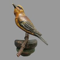 ANTIQUE - Hand Carved Wood - German Folk Art - BIRD