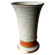 "Vintage ROYAL COPENHAGEN 5 1/2"" Stoneware Crackle Vase Denmark 1960's"