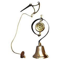 ANTIQUE - 19th Century - Victorian Era - Polished Brass Annunciator - SERVANT'S BELL circa 1890