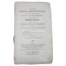 Antique - The New Family Receipt Book - 800 Remedies & Solutions - John Murray 1815