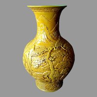 Large Antique Chinese Qing Dynasty JIAGING PERIOD VASE 1796 - 1820