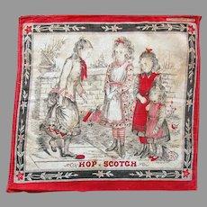 Antique  S. H. GREENE & SONS Printed Handkerchief - Hop Scotch