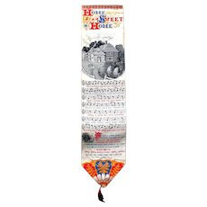 Antique HOME SWEET HOME Stevengraph Silk Bookmark circa 1880