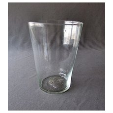 Early Antique Hand Blown 18th Century FLIP GLASS Spiced Ale Tumbler