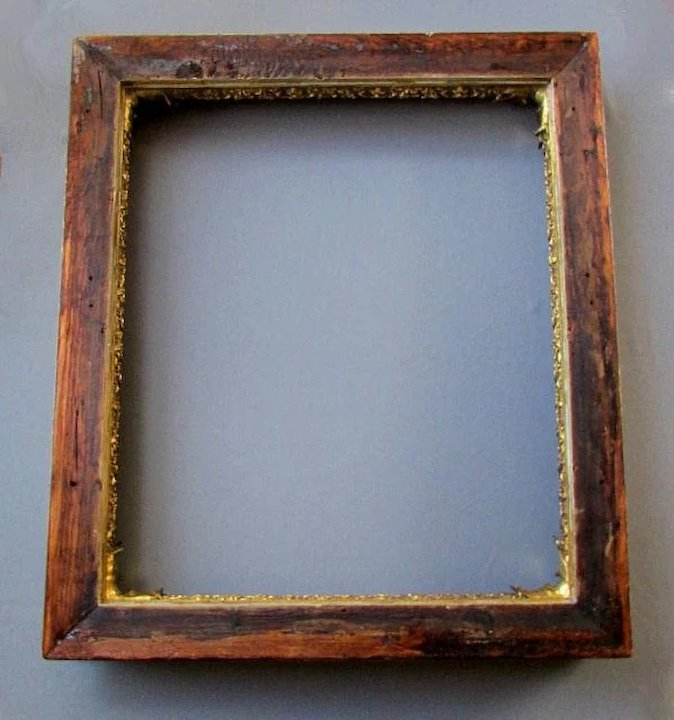 Antique 19th Century Gilt Wood Gesso Painting Frame With Acanthus