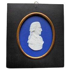 Early ANTIQUE 18th Century BLUE JASPERWARE Portrait of George Washington 1790