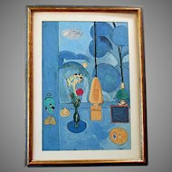 Vintage - HENRI MATISSE -  Museum of Modern Art  - SILKSCREEN PRINT - The Blue Window - Albert Urban 1945