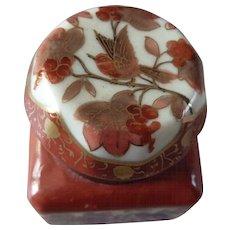Vintage Japanese Kutani Porcelain Inkwell - Red Tag Sale Item