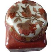 Vintage Japanese Kutani Porcelain Inkwell