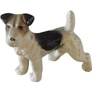 Vintage HUBLEY No. 366 Cast Iron Wire Haired Terrier Figural Paperweight