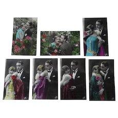 Vintage UNUSED Romantic Fotocelere Postcards