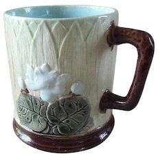 HOLDCROFT Majolica Cup Mug Pond Lily Design