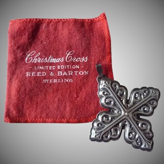 Reed & Barton 1978 Christmas Cross Ornament Sterling Silver LIMITED EDITION