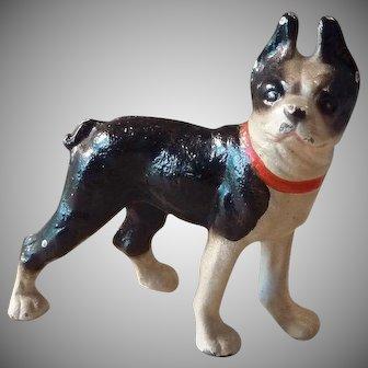HUBLEY Cast Iron Boston Bull Dog Paperweight