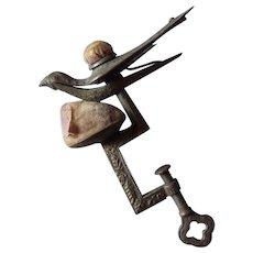 Antique Sewing Bird Clamp Pincushion