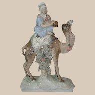 Rare Czecho-Slovakian Amphora Pottery Figure of Musician