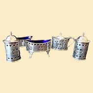 Sterling Silver Condiment Set by Harrison Bros