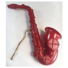 Toy/Doll Hard Plastic Saxophone Kay-Dee Plastics, Inc