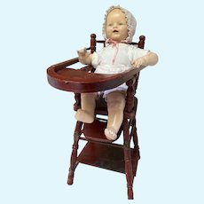 Doll's Folding Highchair High Chair Desk Convertible