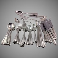 "Tole Sterling Silver ""Lady Diana"" Flatware Set Monogrammed ""R"""