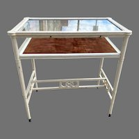 Vintage Showcase Specimen Display Table