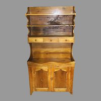 19th Century Virginia Pine Dry Sink Cupboard Hutch