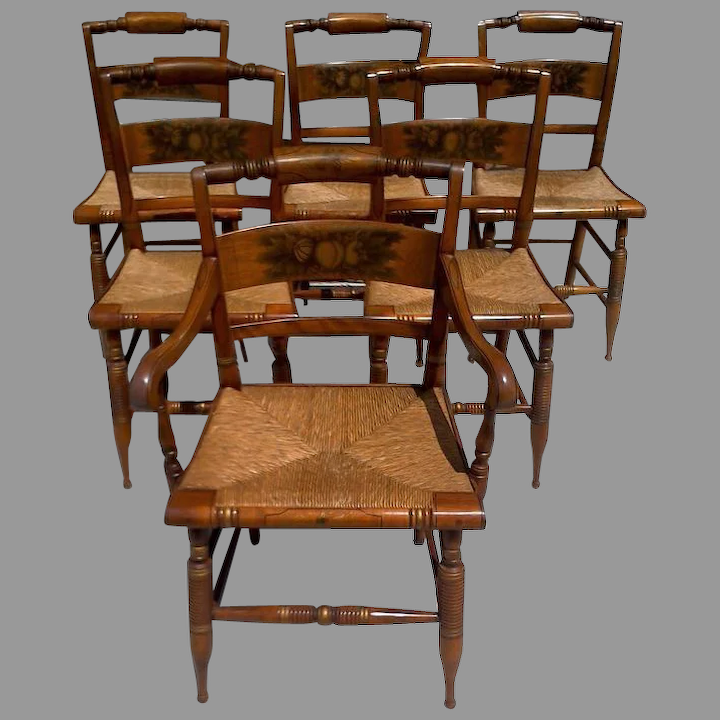 Hitch Dining Chairs Cane Rush Seats