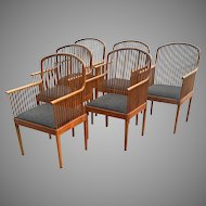 Exeter Chair by Davis Allen for Knoll Set of 6 Armchairs