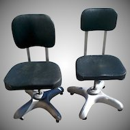 Pair of Vintage Retro Industrial Work or Office Chairs