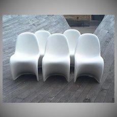 "Verner Panton Set of 5 ""S"" Chairs"