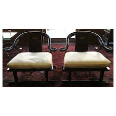Baker Furniture Far East Collection Arm Chairs #2510 by Michael Taylor