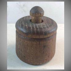 Miniature Wooden Primitive Butter Mold/Press Star Stamp
