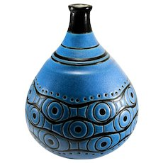 Art Deco Large Longwy France Atelier Primavera Vase