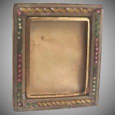 Miniature Italian Desk or Vanity Micromosaic Frame