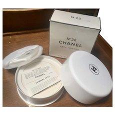 Chanel no 22 Bath Powder NIB Unused 8 oz