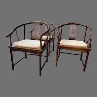 Far East Collection for Baker Furniture by Michael Taylor Horseshoe Chairs Set of 3