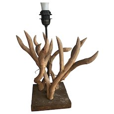Faux Driftwood Table or Desk Lamp