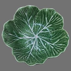 Bordallo Pinheiro Green Cabbage/Lettuce Leaf Bowl