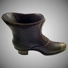 Carved Victorian Shoe Boot Holder Vase