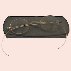 Victorian 14K Yellow Gold Eyeglasses with Case