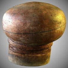 Antique Wooden Millinery Bulbous  Hat Mold