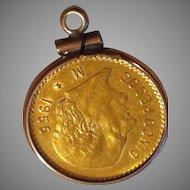 Cinco Pesos M 1955 Gold Coin Estados Unidos Mexicanos