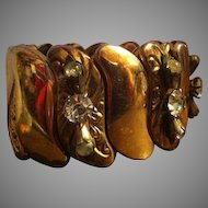 Vintage Bugbee and Niles Co. Expansion/Stretch Bracelet with Rhinestones