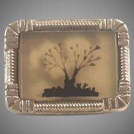 Victorian Moss Agate Small Pin/Brooch Pinchbeck