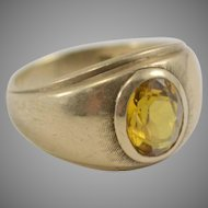10K Gold Ring with Yellow Topaz