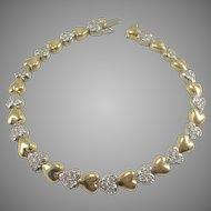 1cttw Diamond & 18K Yellow & White Gold Heart Bracelet
